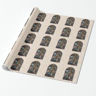 Jungfrau des Felsen Weihnachtsverpackungs-Papiers Geschenkpapier