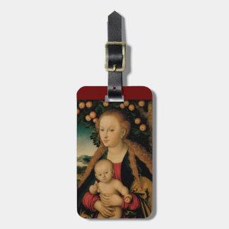 Jungfrau-Kind unter Apfelbaum Cranach Gepäckanhänger