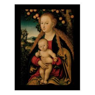 Jungfrau-Kind unter Apfelbaum Cranach Postkarte