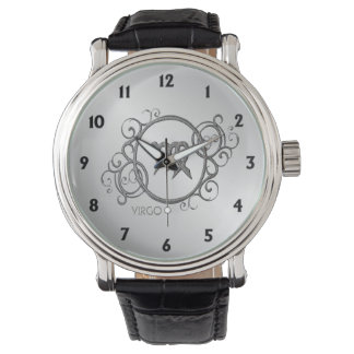 Jungfrau-Tierkreis-Entwurf Uhr