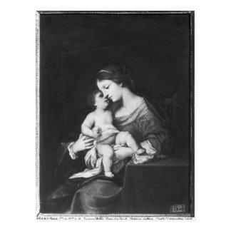 Jungfrau und Kind 3 Postkarte
