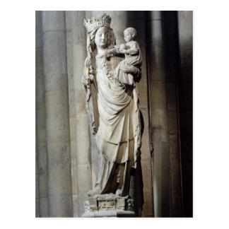 Jungfrau und Kind, bekannt als Notre Damede Paris Postkarte