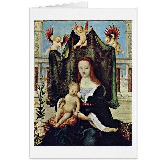 Jungfrau und Kind durch Hans Holbein das Älteste Karte
