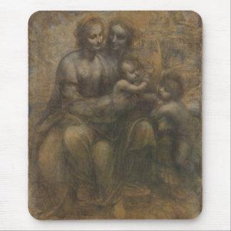 Jungfrau und Kind mit St Anne durch Leonardo da Mousepad