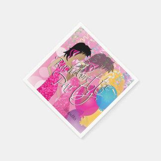 Junggeselinnen-Abschied - Rosa Serviette