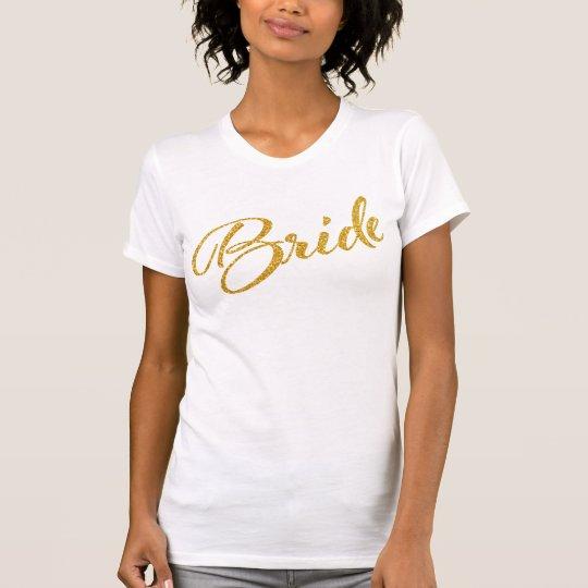 Junggeselinnen-Abschieds-Braut-Shirt-Gold T-Shirt