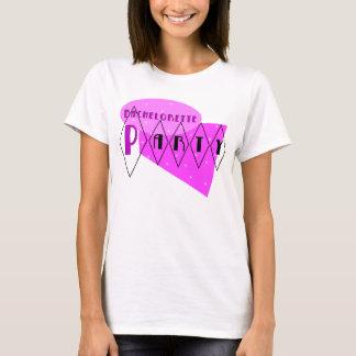 Junggeselinnen-Abschieds-Rosa-T - Shirt KRW Retro