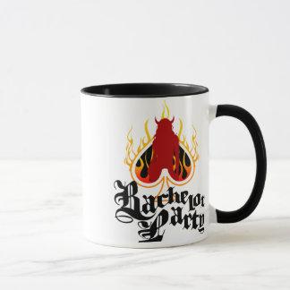 Junggeselle-Party auf Feuer Tasse