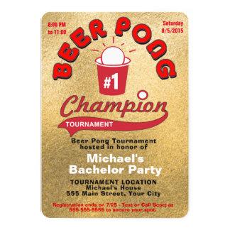 Junggeselle-Party-Bier Pong Karte