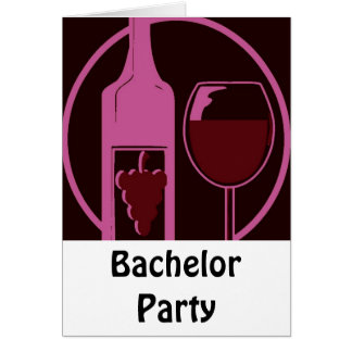 Junggeselle-Party Grußkarte
