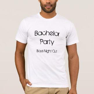 Junggeselle-Party-Jungen-Nacht heraus T-Shirt