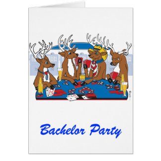 Junggeselle-Party-Poker-Spieler Grußkarte