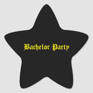 Junggeselle-Partyaufkleber Stern Aufkleber