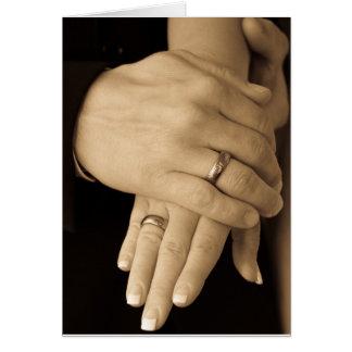 Jungvermählten-Hände Karte