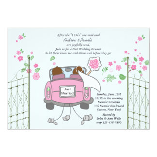 Jungvermählten-Posten-Hochzeits-Brunch-Einladung 12,7 X 17,8 Cm Einladungskarte