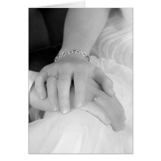 Jungvermählten übergibt II, Glückwünsche Grußkarte