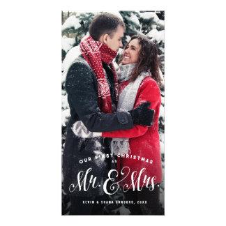 Jungvermählten-WeihnachtsFotokarte Karte