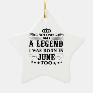 Juni-Monat Legendent-shirts Keramik Ornament
