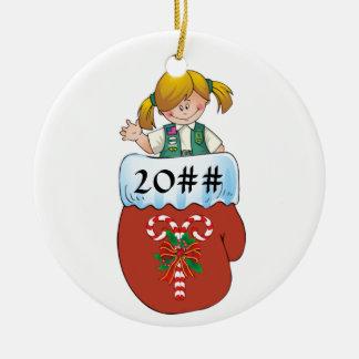 Juniorhandschuh-Blondine Keramik Ornament
