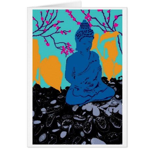 Jupiter Buddha Mitteilungskarte