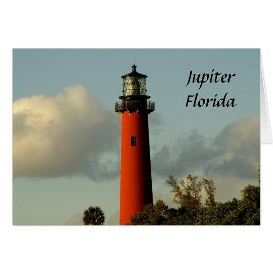 Jupiter-Einlass-Leuchtturm Grußkarte