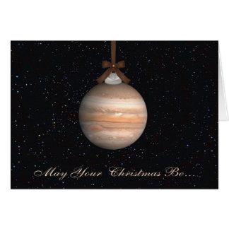 Jupiter-Planeten-Weihnachtsgruß-Karte Karte