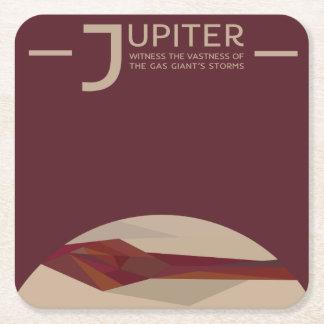 Jupiter-Raum-Untersetzer Rechteckiger Pappuntersetzer