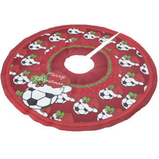 Jupon De Sapin En Polyester Brossé Amants du football de Joyeux Noël