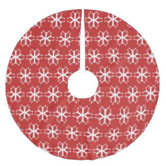 Jupon De Sapin En Polyester Brossé Jupe d'arbre de Noël de flocon de neige de bâtons