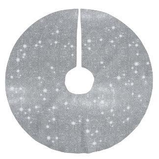 Jupon De Sapin En Polyester Brossé Regard métallique de parties scintillantes en