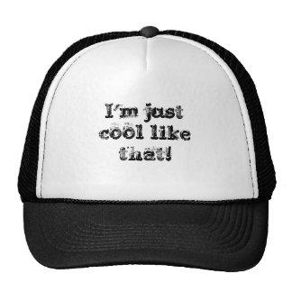 Juste le cool aiment cela casquettes de camionneur