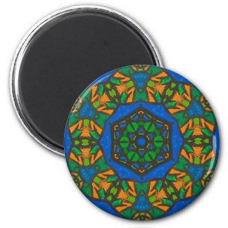 Juwel-getonter Mandala-Magnet Runder Magnet 5,1 Cm