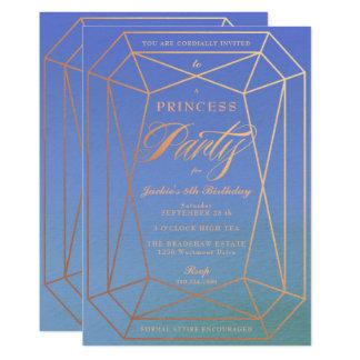 Juwel Prinzessin-Birthday Party Rose Gold Karte