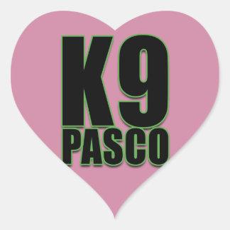 K9 Pasco Liebe-Aufkleber, glatt Herz-Aufkleber