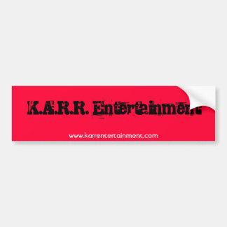 K.A.R.R. Autocollant de Bumber de divertissement Autocollant De Voiture