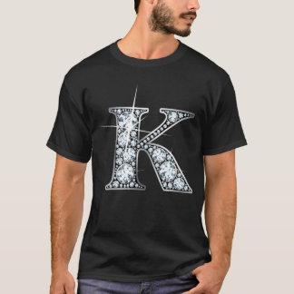 """K-"" Diamant Bling T - Shirt"