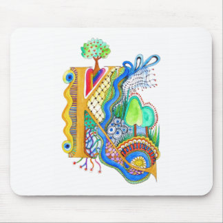 K, Initiale, Monogramm, wedding Mousepads