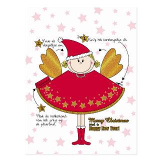 Kaart kerstengeltje knutselen DIY Postkarte