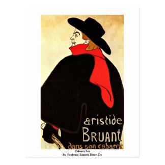 Kabarett-Sohn durch Toulouse-Lautrec Henri De Postkarte