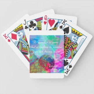 Kabbalah Mitteilung in farbenreichem Bicycle Spielkarten