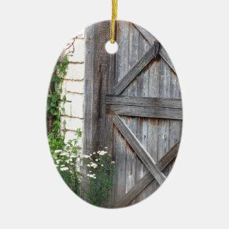 Kabine Door.JPG Ovales Keramik Ornament