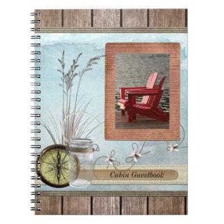 Kabine, Hütte oder Boot Guestbook Notizblock