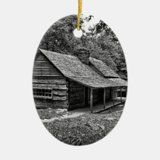 Kabine im Holz Ovales Keramik Ornament