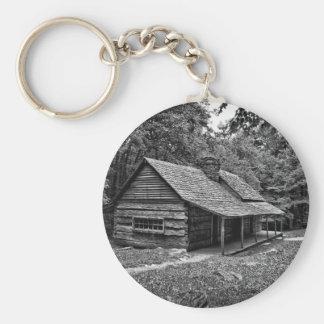 Kabine im Holz Schlüsselanhänger