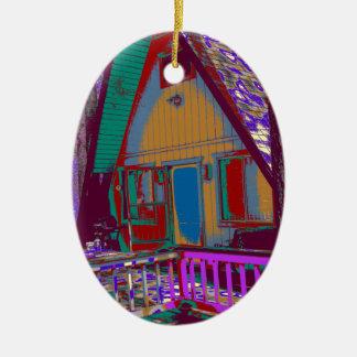 Kabine Ovales Keramik Ornament