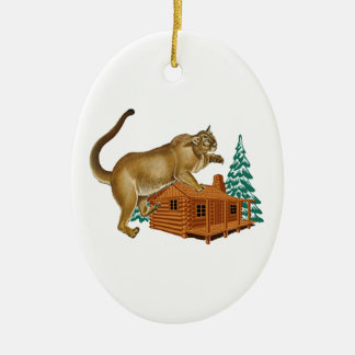 Kabinen-Sprung Ovales Keramik Ornament