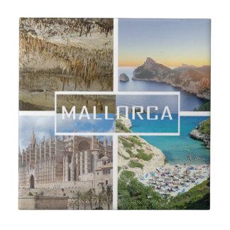 kachel vier Fotos der Insel von Mallorca