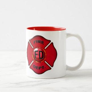 Kaffee angetriebene Feuerbekämpfungs-Tier-Tasse Zweifarbige Tasse