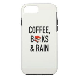 Kaffee, Bücher u. Regen iPhone 8/7 Hülle