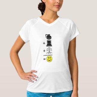 Kaffee-Computer-Genealogie glücklich T-Shirt